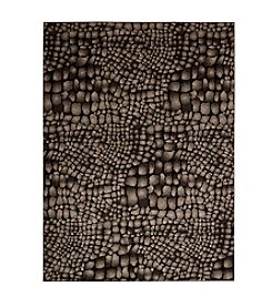 Nourison Glistening Nights Black Area Rug