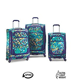 American Tourister® iLite Extreme Purple Dot Luggage Collection + $50 Gift Card by mail