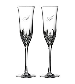 Waterford® Essence Set Of Two Monogrammed Champagne Flutes