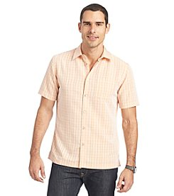 Van Heusen® Men's Short Sleeve Plaid Button Down