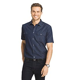 Van Heusen® Men's Short Sleeve Indigo Button Down Shirt