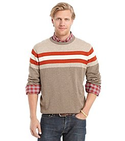 Izod® Men's Heathered Chest Stripe Crewneck Sweater
