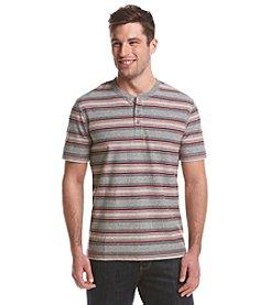 Ruff Hewn Men's Short Sleeve Striped Henley Tee
