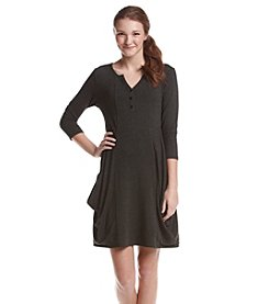 Kensie® Henley Neck Drapey Dress