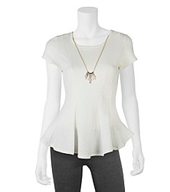 A. Byer Necklace Peplum Top