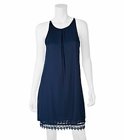 A. Byer Crochet Trim Dress