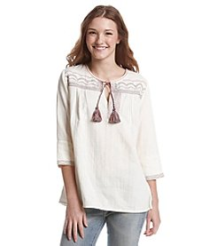Hippie Laundry Gauze Peasant Top