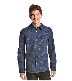 Lazer™ Men's Long Sleeve Camo Button Down Shirt