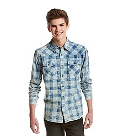 Lazer™ Men's Long Sleeve Yarn Dye Plaid Button Down