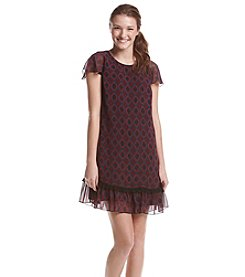 Kensie® Printed Ruffle Dress