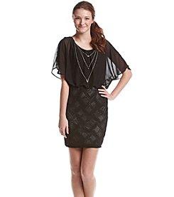 Trixxi® Chiffon Necklace Dress