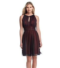 Jessica Howard® Chiffon Beaded Waist Party Dress