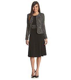Jessica Howard® Petites' Sequin Glitter Jacket Dress