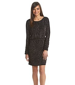 Jessica Howard® Petites' Glitter Blouson Dress