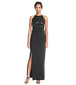 R&M Richards® Petites' Sequin Halter Gown Dress