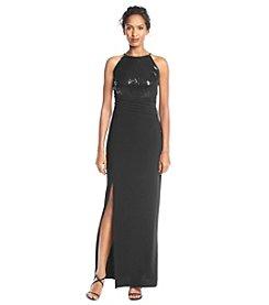 R&M Richards® Petites' Sequin Halter Gown Dress