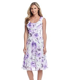 Connected® Floral Ruched Midi Dress