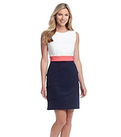 Connected® Colorblock Tiered Dress