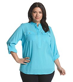 MICHAEL Michael Kors® Plus Size Collared Top With Pockets
