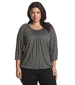 MICHAEL Michael Kors® Plus Size Circle Print Peasant Top