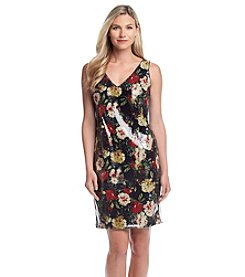 Marc New York Sequin Floral Dress