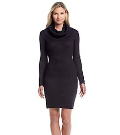Marc New York® Cowlneck Sweater Dress