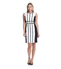 Calvin Klein Grid Sheath Dress