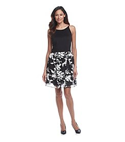 Taylor Dresses Halter Floral Scuba Dress