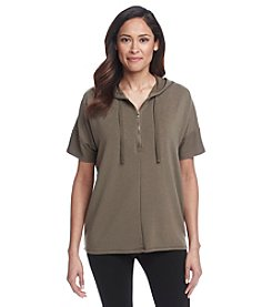Cable & Gauge® Boxy Henley With Hood