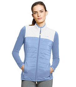 Lauren Active® Color-Blocked Quilted Track Jacket