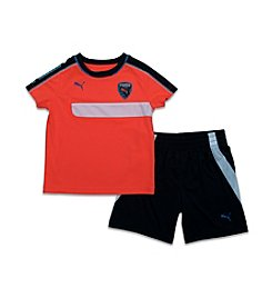 PUMA® Boys' 2T-7 2-Piece Soccer Tee And Shorts Set
