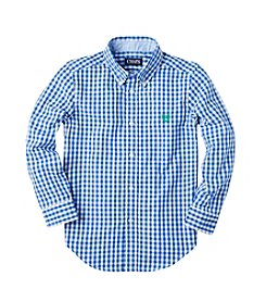 Chaps® Boys' 2T-16 Long Sleeve Gingham Button Down Shirt