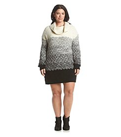 Ruff Hewn Plus Size Ombre Sweater Dress
