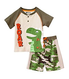 Nannette® Boys' 2T-7 2-Piece Short Sleeve Dino Roar Set