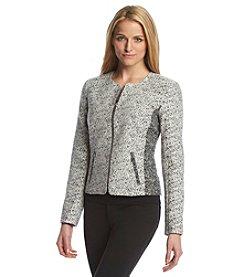 Calvin Klein Boucle Zip-Front Jacket