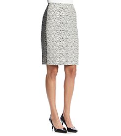 Calvin Klein Colorblock Boucle Skirt