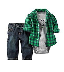 Carter's® Baby Boys' Plaid Shirt And Denim Set