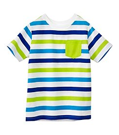 mix&MATCH Boys' 2T-7 Short Sleeve Striped Pocket Tee