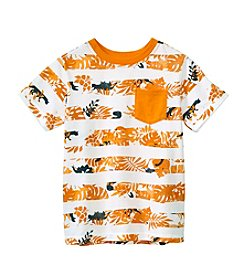 Mix & Match Boys' 2T-7 Short Sleeve Print Striped Tee