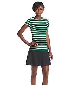 MICHAEL Michael Kors® Striped Flounce Dress