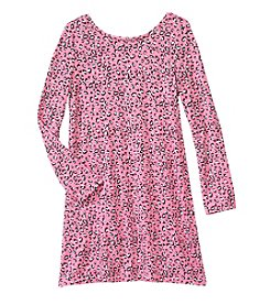 Jessica Simpson Girls' 7-16 Animal Print T-Shirt Dress