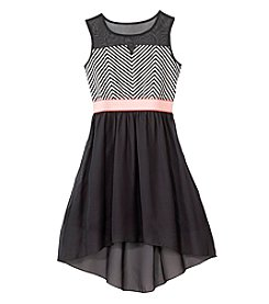 Speechless® Girls' 7-16 Striped Hi-Lo Dress