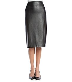 Tahari ASL® Faux Leather Pencil Skirt
