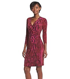 Anne Klein® Wrap Front Dress
