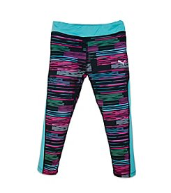 PUMA® Girls' 4-16 Stripe Print Capri Leggings