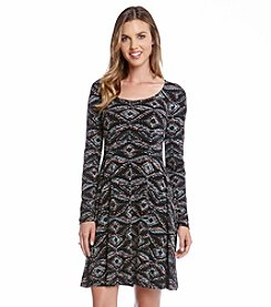 Karen Kane® Printed Keyhole Dress