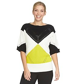 Chaus Dolman Sleeve Colorblock Top