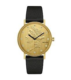 Bulova® Men's Goldtone Wand Diamond Watch