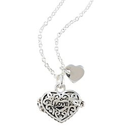 Marsala Silver-Plated Love Heart Locket Pendant