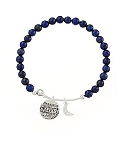 Marsala® Lapis Adjustable Charmed Believe Bracelet